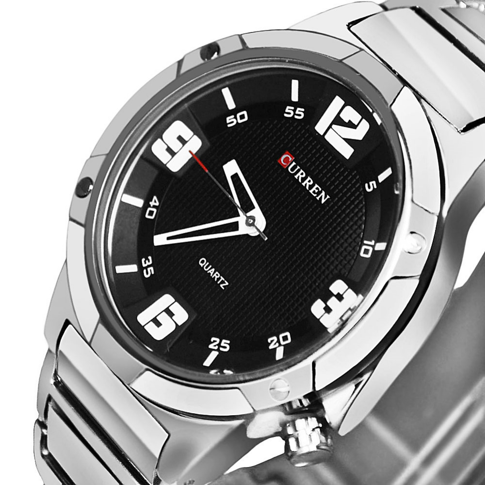 Casual Full Steel Men Watches Clock Male Military Watch Men Full Steel Watch CURREN Men Quartz Sports Watches For Men Relojes fashion black full steel men casual quartz watch men clock male military wristwatch gift relojes hombre crrju brand women watch