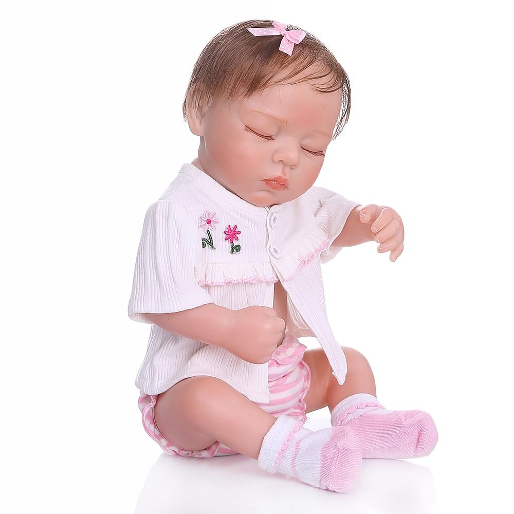 NPK 48 سنتيمتر بيبي واقعية تولد من جديد لينة كامل الجسم slicone نابض بالحياة النوم الطفل اليد مفصلة اللوحة تشريحيا الصحيح-في الدمى من الألعاب والهوايات على  مجموعة 2