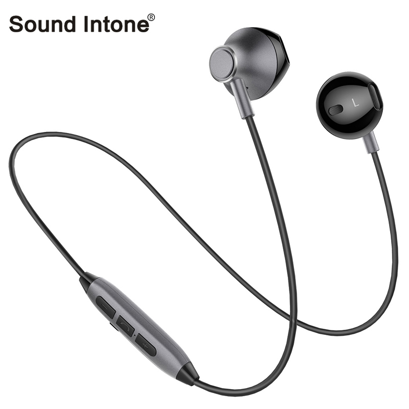 Wireless Headphone Bluetooth Sweatproof Magnetic Earbuds Lightweight Sport Earphone with HD Mic Support 2 Devices for iphone MP3 sagotws k5s wireless headphone bluetooth earbuds mini sweatproof sport headsets bluetooth earphones with mic for iphone samsung