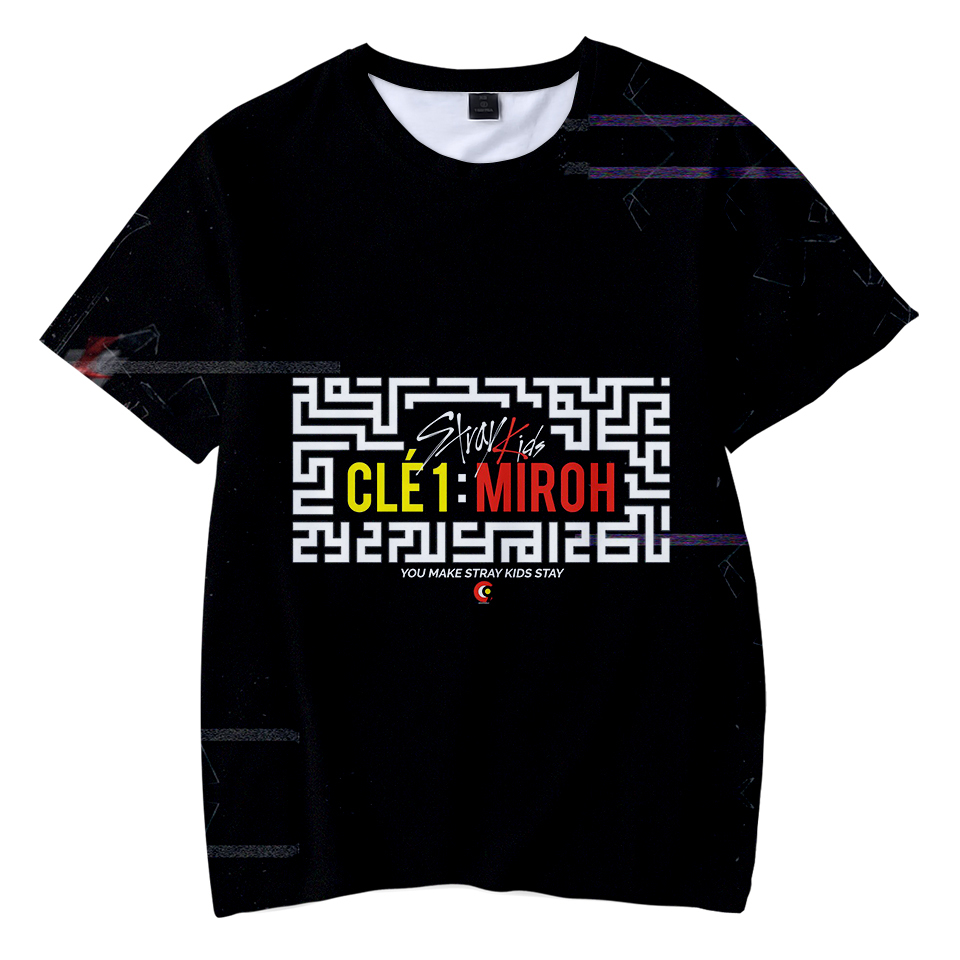 straykids Kpop New product fashion Printed Summer comfortable Kid T-shirts boy/girl Clothes Hot Sale Short Sleeve T-Shirt