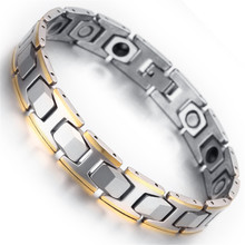 Magnetic Tungsten Mens Bracelet Bangle Gold Silver Colour 2017 Fashion font b Health b font Care