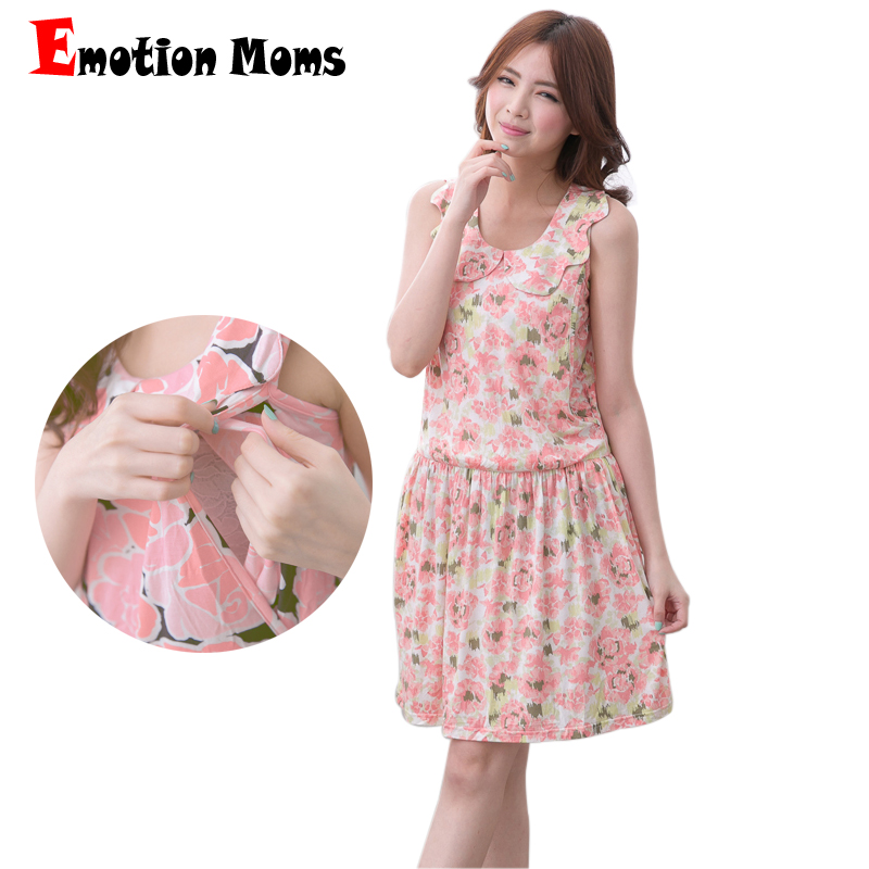 Emotion Moms Maternity Dress Summer Sleeveless Floral Breastfeeding Dresses for Pregnant Women Nursing Dress Maternity Clothes моноблок lenovo ideacentre aio 520 22ikl ms silver f0d4000wrk intel core i3 7100t 3 4 ghz 4096mb 1000gb dvd rw intel hd graphics wi fi bluetooth cam 21 5 1920x1080 windows 10 home 64 bit