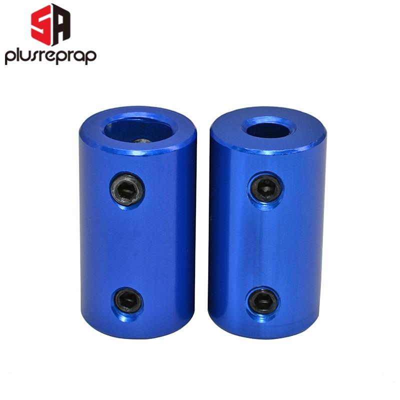 Aluminum Alloy Coupling Bore 5x5mm 5x8mm 3D Printers Parts D14* L25mm Blue Flexible Shaft Coupler Screw Part For Stepper Motor