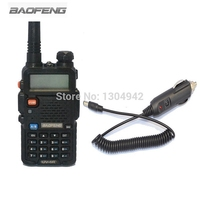 BAOFENG UV 5R Walkie Talkie Two Way Radio FM Transceiver Interphone Dual band DTMF Encoded VOX Alarm +Car charger cable