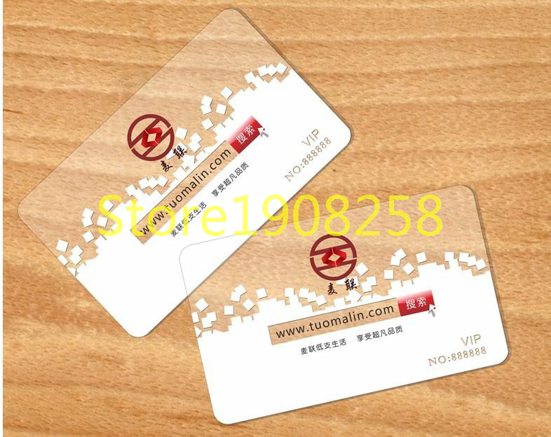 200pcs/Lot Thin 0.38mm Plastic PVC Design Visit Card Business Card ...