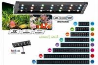 100 240V 30 45/45 55/60 80/90 100/120 140cm Aquarium 4 Color LED Lighting Fish Tank Light Lamp with Extendable Brackets