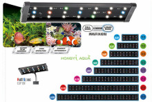 100-240V 30-45/45-55/60-80/90-100/120-140cm Aquarium 4 Color LED Lighting Fish Tank Light Lamp with Extendable Brackets
