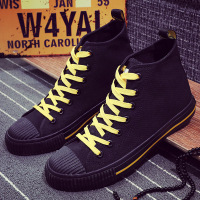 Men Shoes High top Canvas Vulcanized Shoes for Male Breathable Lace up Sneakers