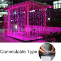 Connectable 4M LED Curtain Icicle String Lights 120 LEDs LED Fairy Lights Christmas lamps Icicle Lights Wedding Party Decoration