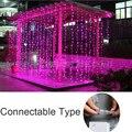 Se puede conectar 4 M LED Cortina de la Secuencia del Carámbano Luces 120 LEDs lámparas LED Luces de Hadas de Navidad Carámbano Luces Del Banquete de Boda de Decoración