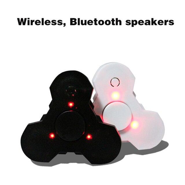 3 в 1 Ручной счетчик Динамик Bluetooth LED Непоседа spinner розовый беспроводные Колонки с Пальца гироскопа Bluetooth приемник