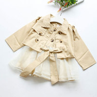 2017 Spring Autumn Clothing Set For Newborn Baby Girl Fashion Outerwear Clothes Suit Dress Jacket Children