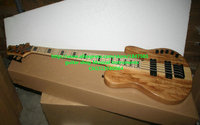Custom 5 Strings Bass Guitar HOT SALE 5 strings Electric bass guitar Natural one piece body OEM available High Quality
