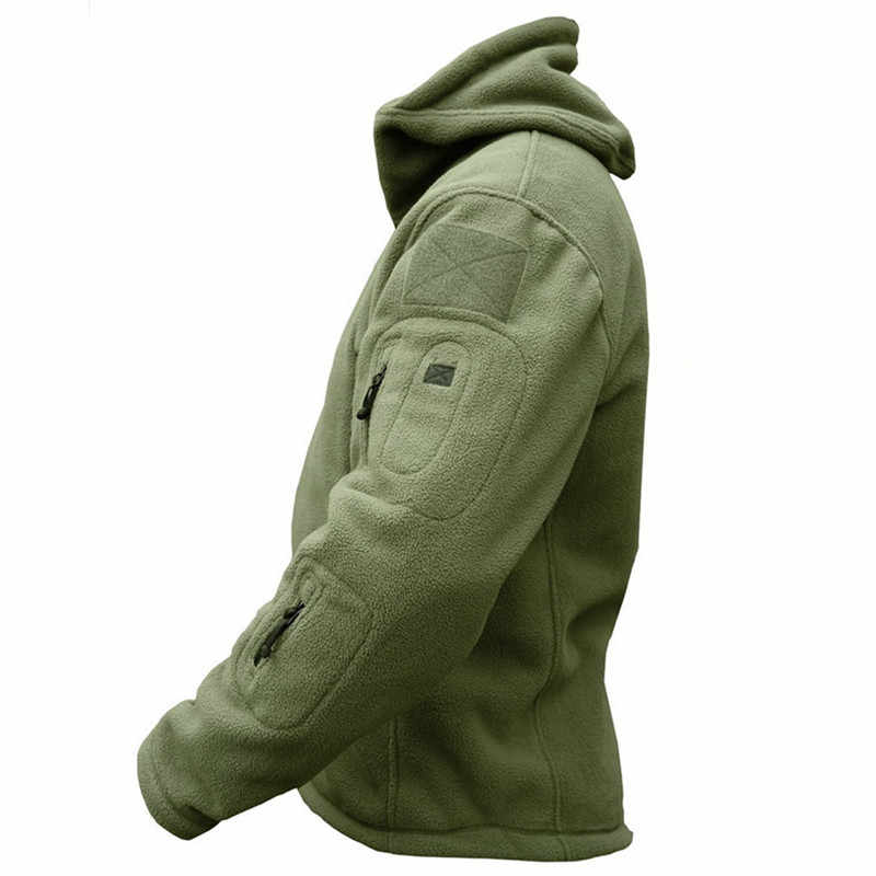 Winter Military Uniform Clothes Softshell Jacket Men Tactical Thermal Breathable Hooded Coat Army Camo  Outerwear