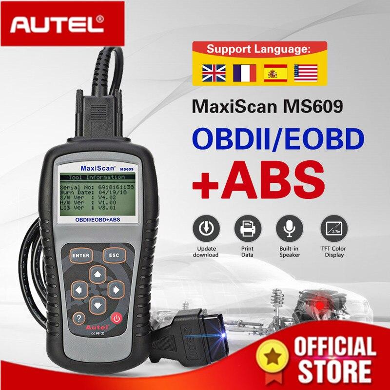 Lecteur de Code de Scanner Autel Maxiscan MS609 OBD2 avec fonctions OBD2 complètes diagnostic ABS DTC définitions avancées de MS509 et AL519
