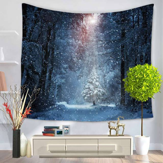 Mandala Tapestry Starry Sky Stars Beach Table Cloth Hippie Blanket Scenery Decoration Multifunctional Tapestry Wall Hanging