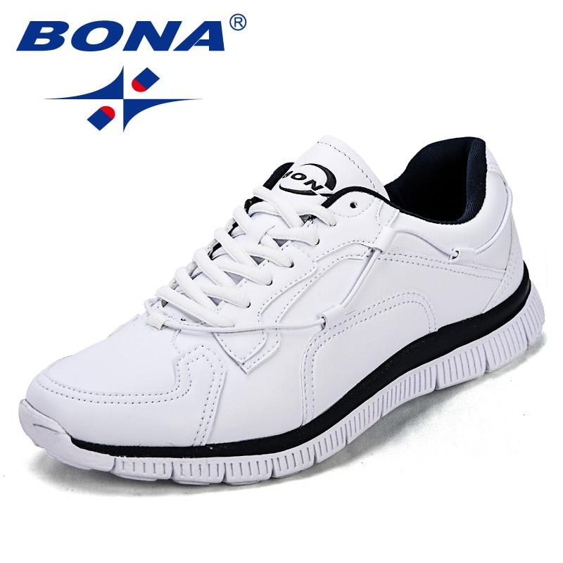 BONA nouveauté Style populaire hommes chaussures de marche à lacets hommes chaussures d'athlétisme hommes synthétiques chaussures de Jogging léger livraison gratuite