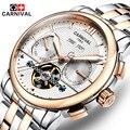 Fashion Luxury Brand Carnival Men Watch Tourbillon Hollow Calendar Automatic Mechanical Watch Male Casual dress Clocks Relogio