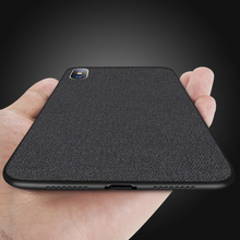 Ultra-ince Yumuşak Silikon Bez Doku telefon kılıfı Için iphone Xr Xs Max 6 6 s 7 8 Artı 6 artı 7 Artı 8 Artı Koruma Kılıf Kapak