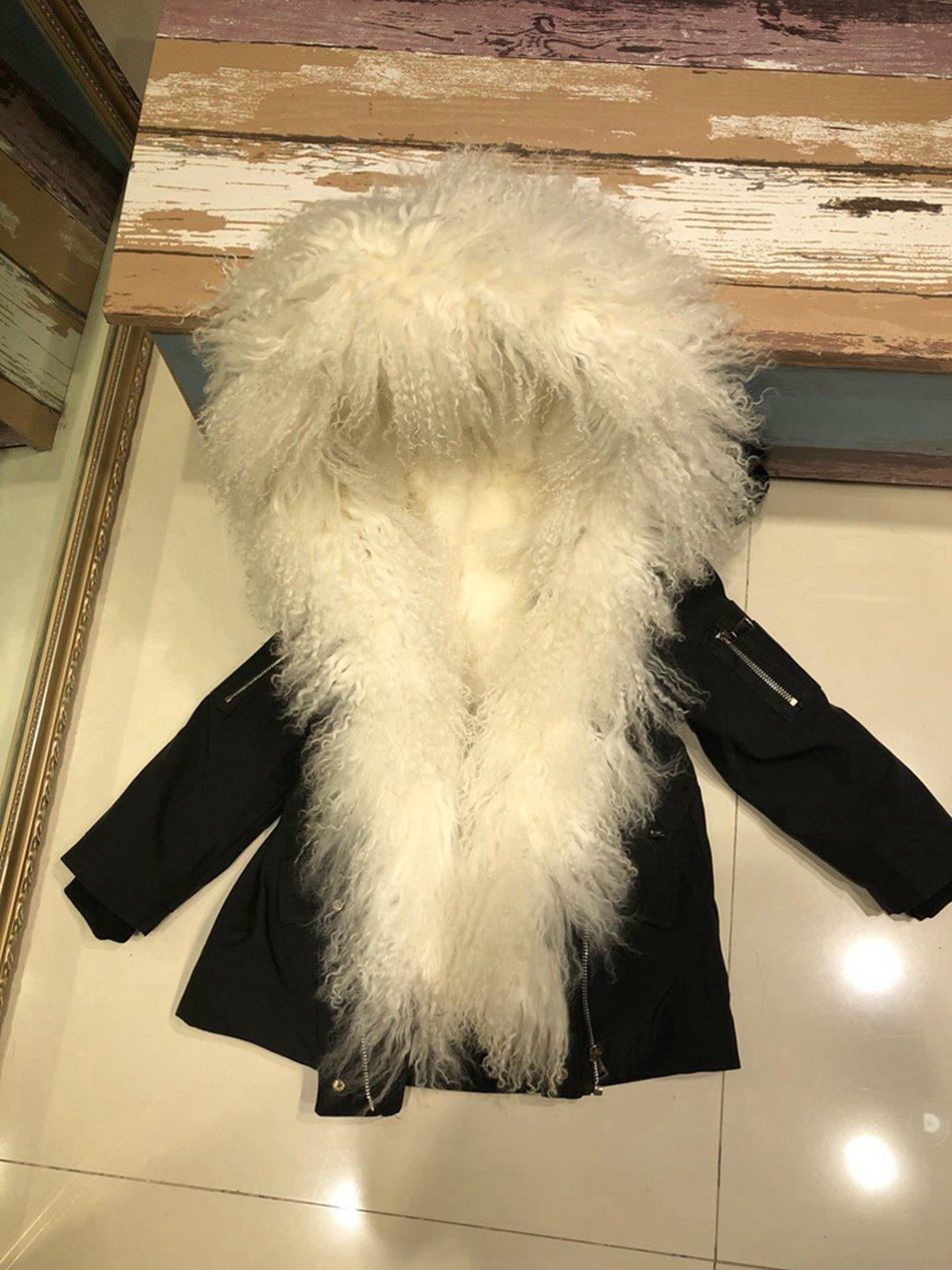 Parent-childs natural fur parkas with hood (11)