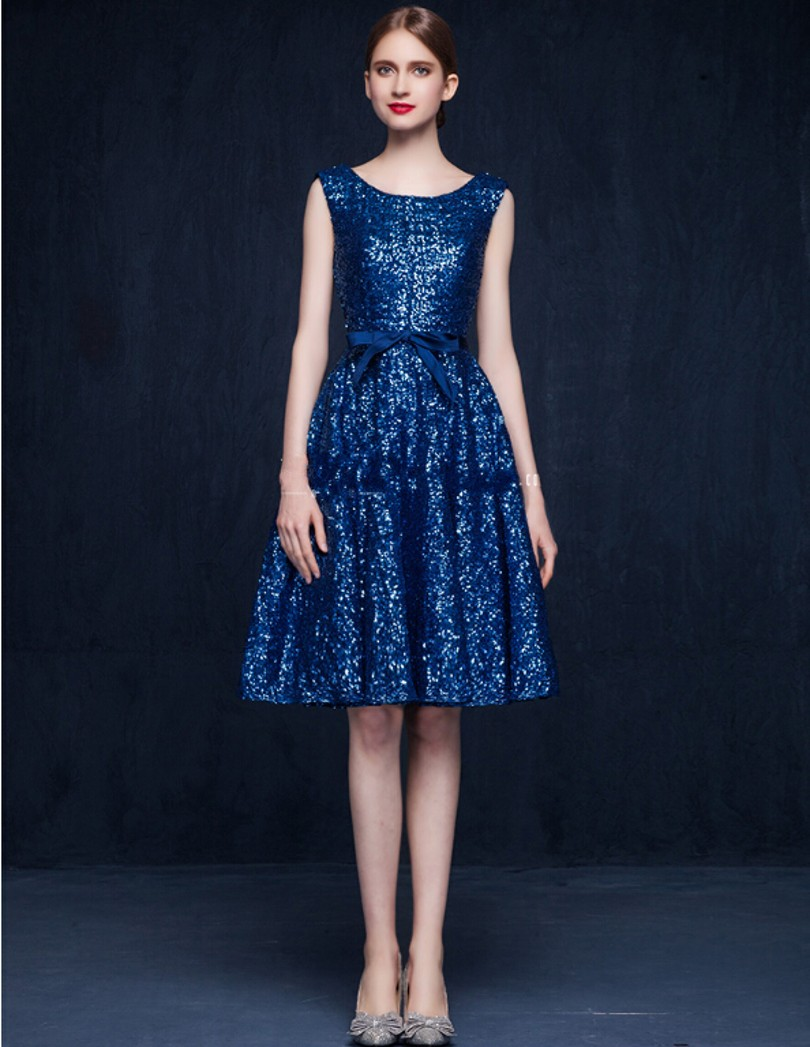 Popular Blue Sequin Cocktail Dress-Buy Cheap Blue Sequin Cocktail ...