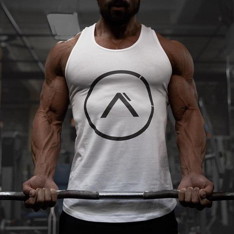 Men Summer style Fitness bodybuilding Stringer   Tank     Top   Brand fashion Leisure Shirts Stringer Loose breathable Undershirt Vest