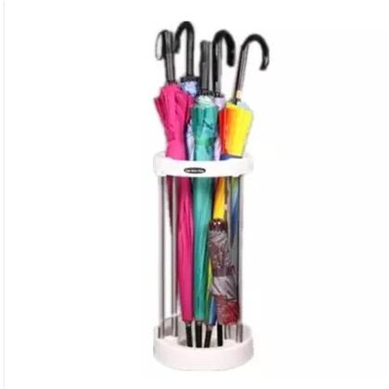 Stainless Steel fall to the ground umbrella barrel multifunction creative umbrella six-layer storage rack ...