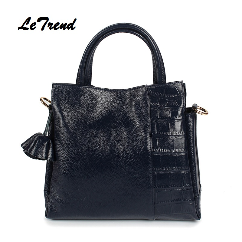 LeTrend Fashion Women  Leather Panelled Handbags Women Bag Satchels Messenger Bag Crossbody Bags Ladies's Shoulder Bag New women shoulder bags leather handbags shell crossbody bag brand design small single messenger bolsa tote sweet fashion style