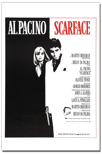 DIY frame Scarface Al Pacino The World Is Yours, Classic Gangster ...