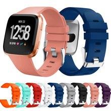 Pulseira De Silicone vermelho Para FitbitVersa Banda Acessórios Faixas de Relógio Inteligente para Fit bit Versa Mulheres Macio Ajustável Cinta Esporte
