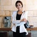 Trendy Casual Slim Dovetail Tuxedo Suit Blazer Coat Jacket Korean Fashion Women Long Sleeve OL Business Outerwear Solid 2 Color