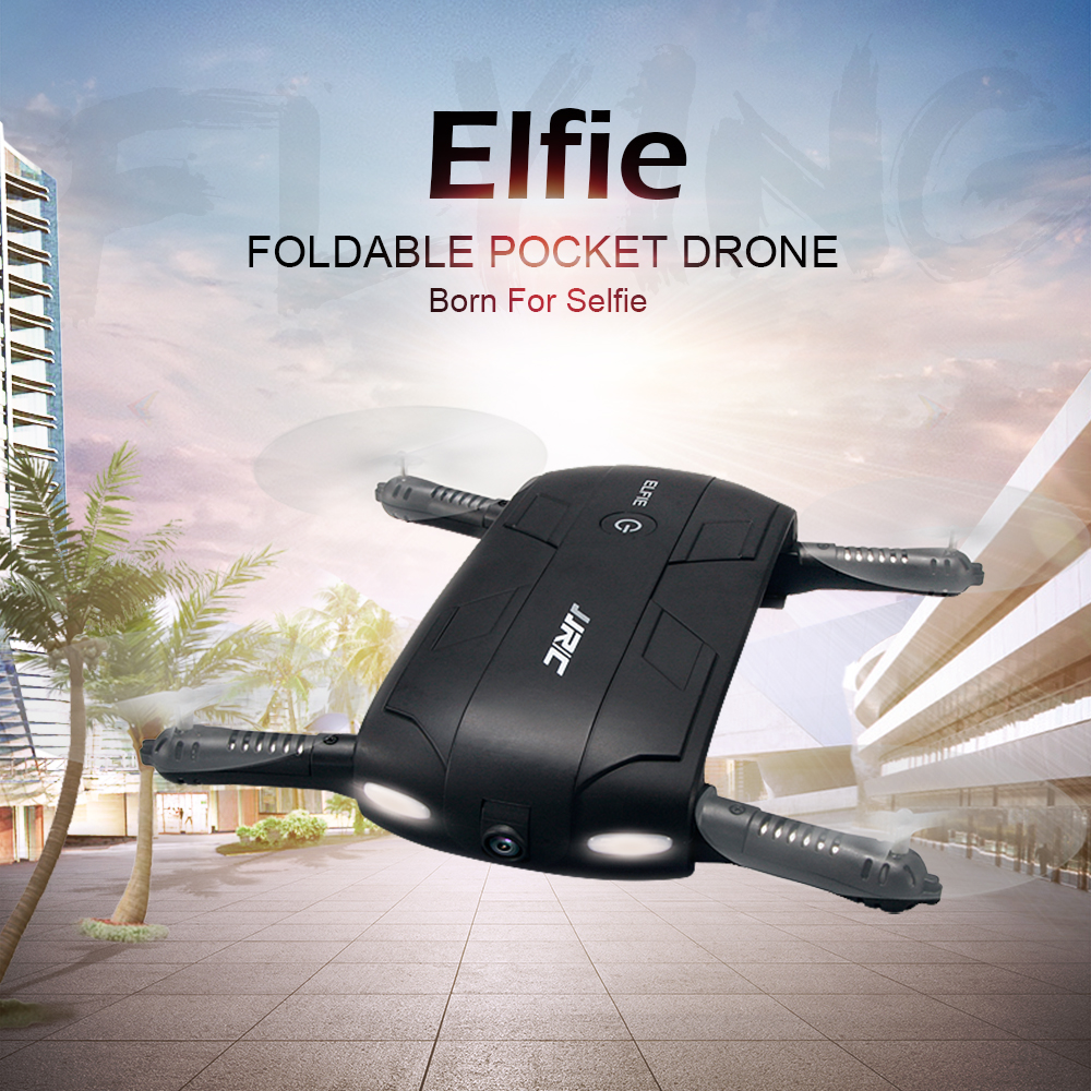 JJRC H37 ELFIE 2.4G 6Axis Headless Mode Self-timer WIFI real-time transmission Foldable RC Quadcopter With 0.3MP Camera RTF