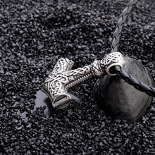 Men's Vikings Amulet Leather Necklace
