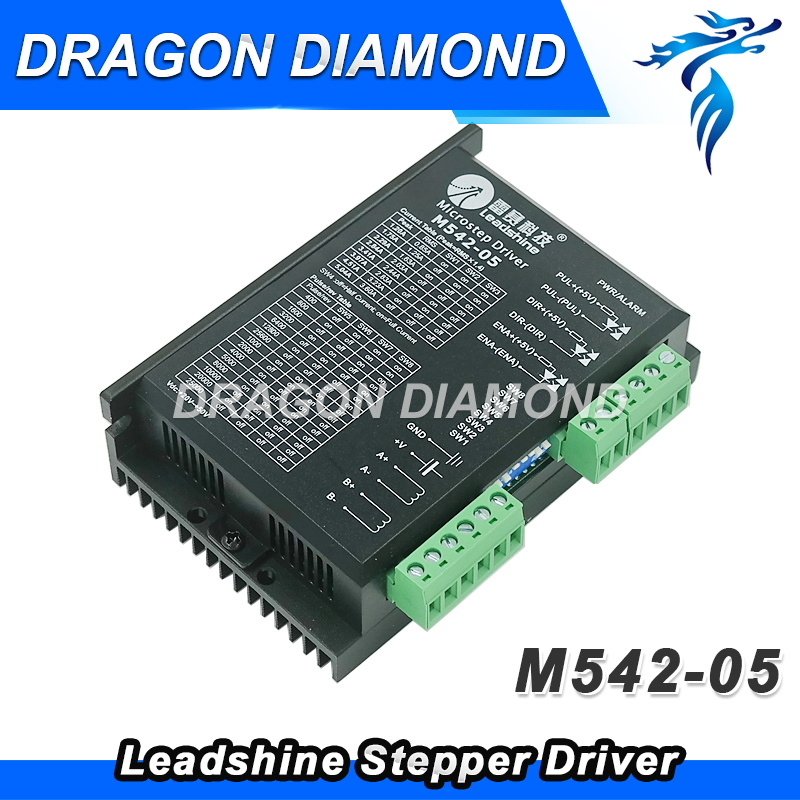 Factory price for Leadshine Stepper Motor driver M542 / 2-phase step Driver leadshine 2 phase microstep driver m542 05 step motor driver 20v 50vdc 1 2a 5 04a for cnc router