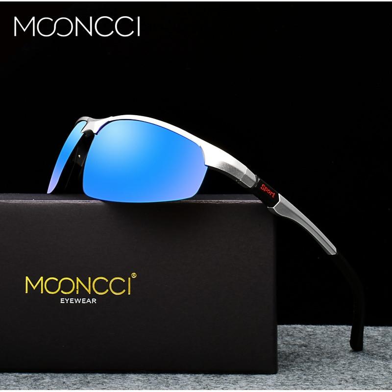 MOONCCI Men's Hd Polarized Aluminum Sunglasses Men Luxury Brand Sports Outdoor Goggles Mirror Sun Glasses for Male Gafas De Sol