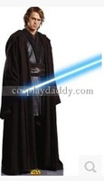 Star Wars Cosplay Jedi Black Kimono Halloween Suit Costume