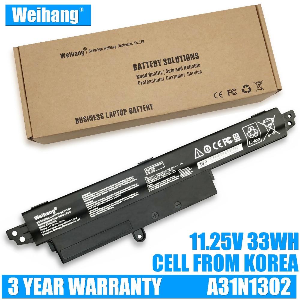 Weihang 11.25V 33Wh A31N1302 Battery For ASUS VivoBook X200CA X200MA X200M X200LA F200CA X200CA R200CA 11.6