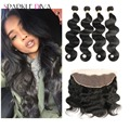 Peruvian Virgin Hair With Frontal Closure 8A 5PCS Peruvian Body Wave With Frontal Closure Vip Beauty Hair With Closure