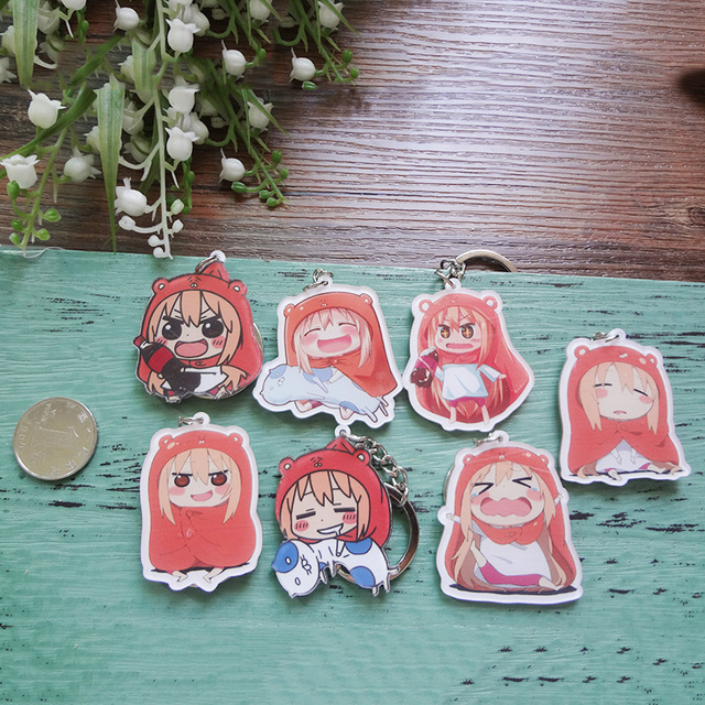 Cute figure pendant Umaru Himouto! Umaru-chan Funny girl cosplay keychains Pendant Portachiavi Gift Collection