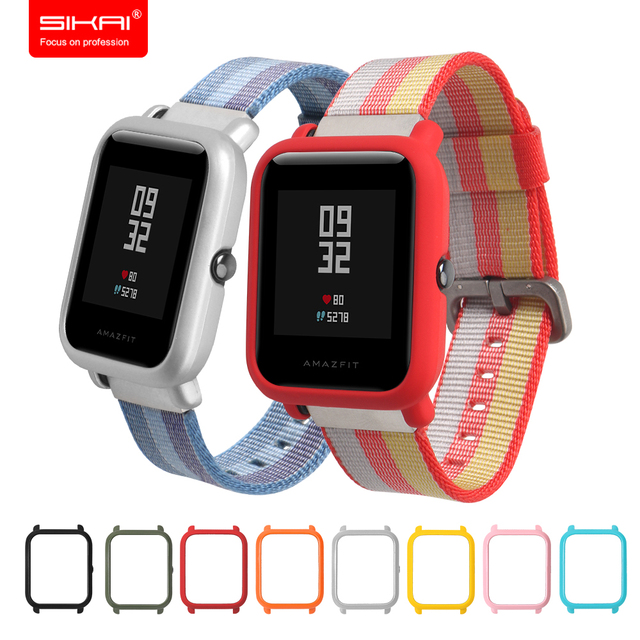 SIKAI Case for Xiaomi Amazfit Bip BIT PACE Lite Youth Watch Case Cover  Protective Shell for 2fc64c1ec01