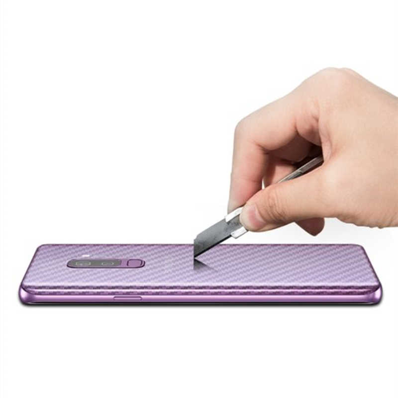 2 قطعة لسامسونج غالاكسي S7 حافة S10 S9 S8 زائد ملاحظة 9 8 Note9 A5 2017 ألياف الكربون الخلفي واقي للشاشة لاصق غشائي غطاء كامل