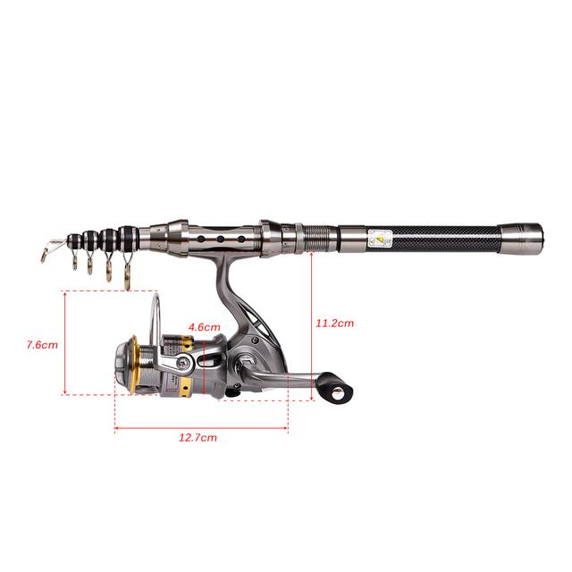 Lixada Telescopic Fishing Rod Combo and Reel Full Kit