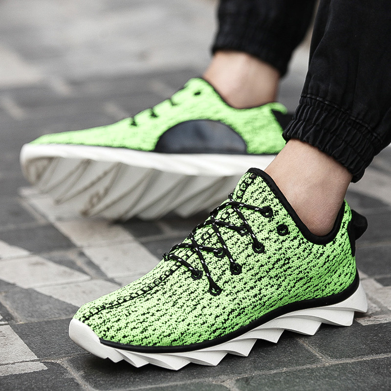 08f0235f65bd6 Free Shipping 2015 New Arrival Kanye West Yeezy 350 Sneakers Low Top Casual  Lacing Blade Sole Sport Shoes Green Running Shoes-in Fitness    Cross-training ...