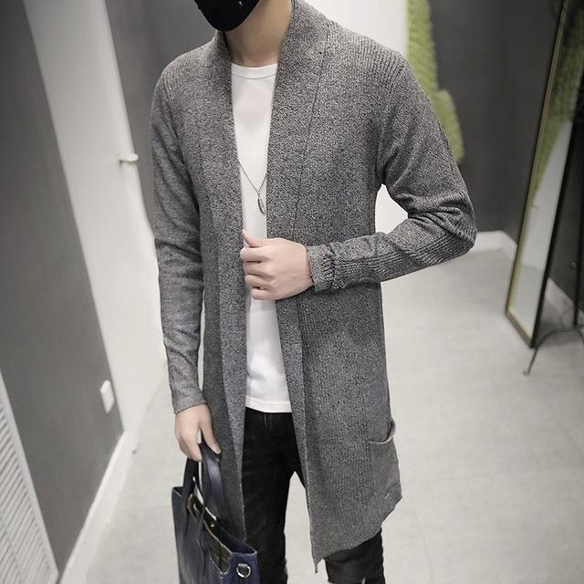 2016 nova primavera longa camisola casaco cardigan camisola estudante do sexo masculino magro cardigan maré juventude