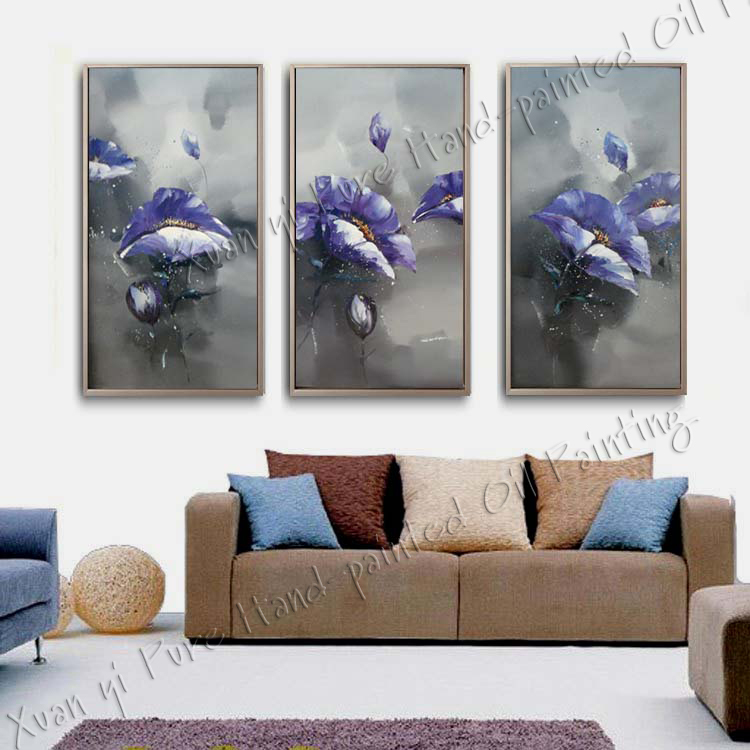 Hand-painted Oil Wall Art Home Decoration Modern Abstract fish Oil Painting On canvas 3 Piece Wall Painting