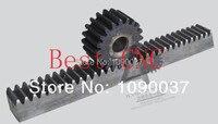 CNC Cremallera Mod 2.5 Dientes Derecha 25x25x1000mm rectos maquinaria de precisión de engranajes de la industria 45 de acero dientes endurecimiento de frecuencia