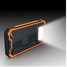 2016 Nuevo Banco de la Energía Solar 20000 mAh Energía Del Cargador de Batería Dual USB Powerbank Polímero Cargador Portátil Con LED Luz Que Acampa