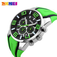 SKMEI Brand 6 Pin Stopwatch Chronograph Sports Watches Men Waterproof Silicone Quartz Watch Students Fashion Casual