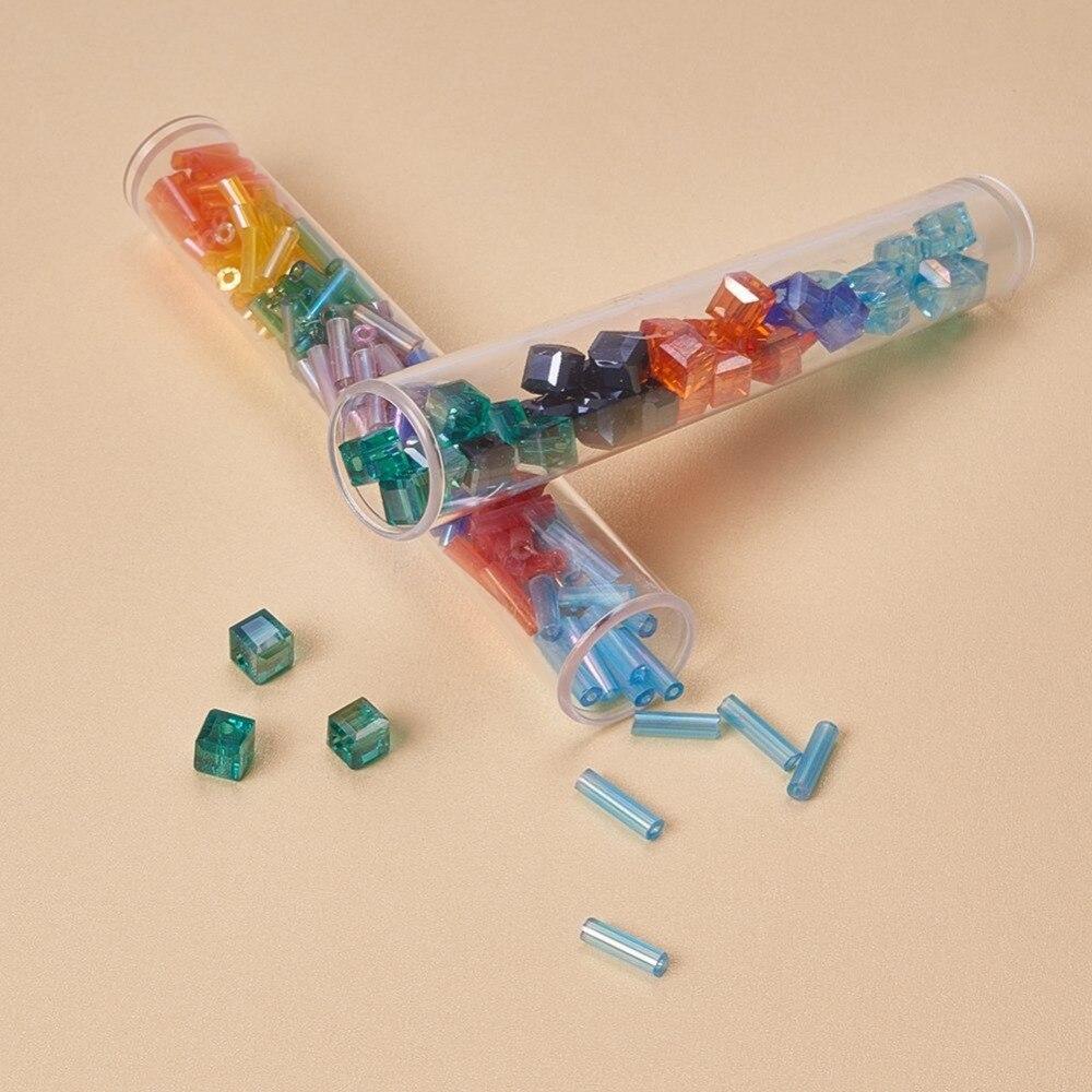 Image 5 - Pandahall 100 sztuk przezroczysta tubka z tworzywa sztucznego kulki pojemniki na butelka do przechowywania opakowanie na biżuterie słoiki o długości 78mm, szerokości 13mm F60Pakowanie i ekspozycja biżuterii   -