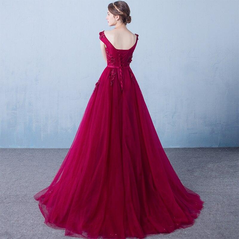 Κόκκινο βραδινό φόρεμα κρασιού Μακρύ - Ειδικές φορέματα περίπτωσης - Φωτογραφία 6